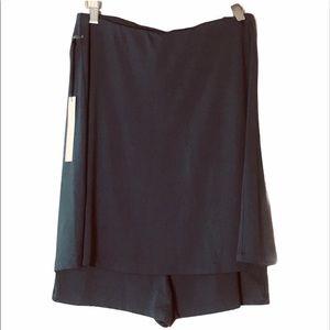 SUSANA MONACO Strapless Romper Shorts Charcoal